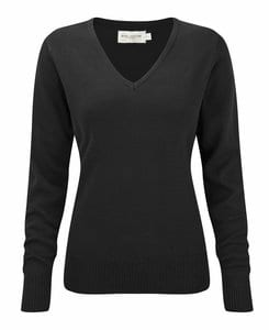 Russell Europe R-710F-0 - Ladies V-Neck Knitted Pullover
