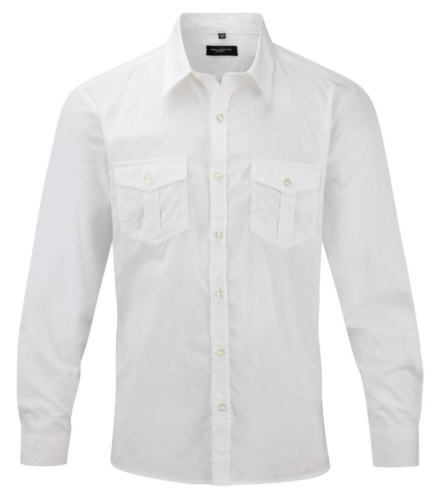 Russell Europe R-918M-0 - Men`s Roll Sleeve Shirt Long Sleeve