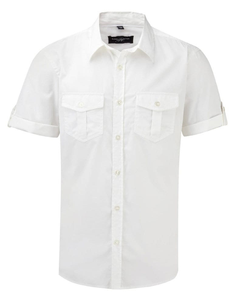 Russell Europe R-919M-0 - Men's Roll Sleeve Shirt
