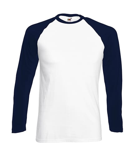 Fruit of the Loom 61-028-0 - T-Shirt Manches Longues Homme Baseball