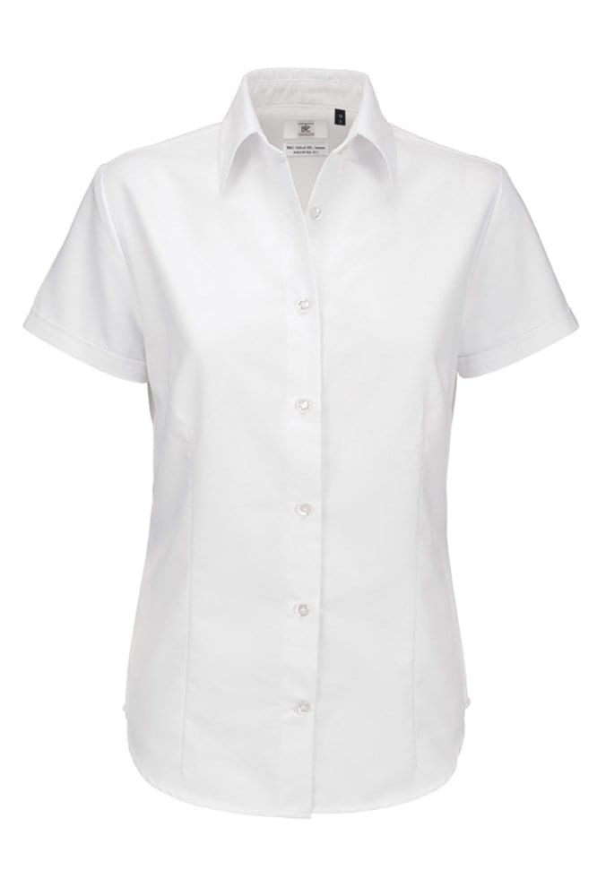 B&C Oxford SSL Women - Ladies` Oxford Short Sleeve Shirt - SWO04