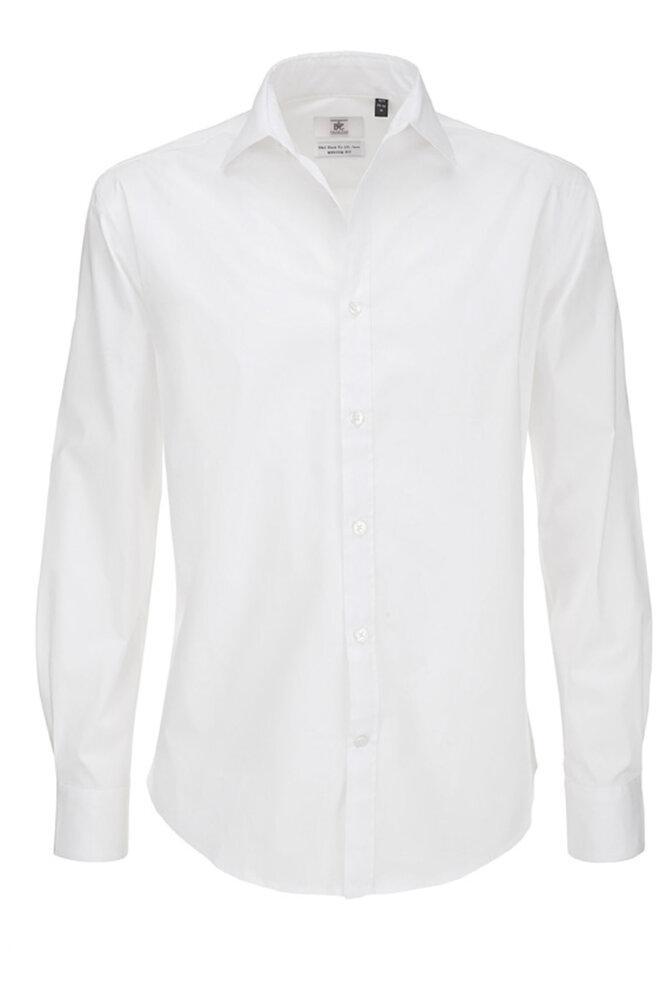 B&C Black Tie LSL Men - Men`s Black Tie Elastane LS Shirt - SMP21