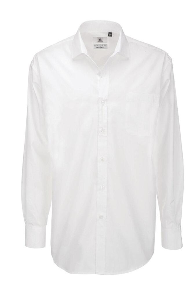 B&C Heritage LSL Men - Men`s Heritage LS Poplin Shirt - SMP41