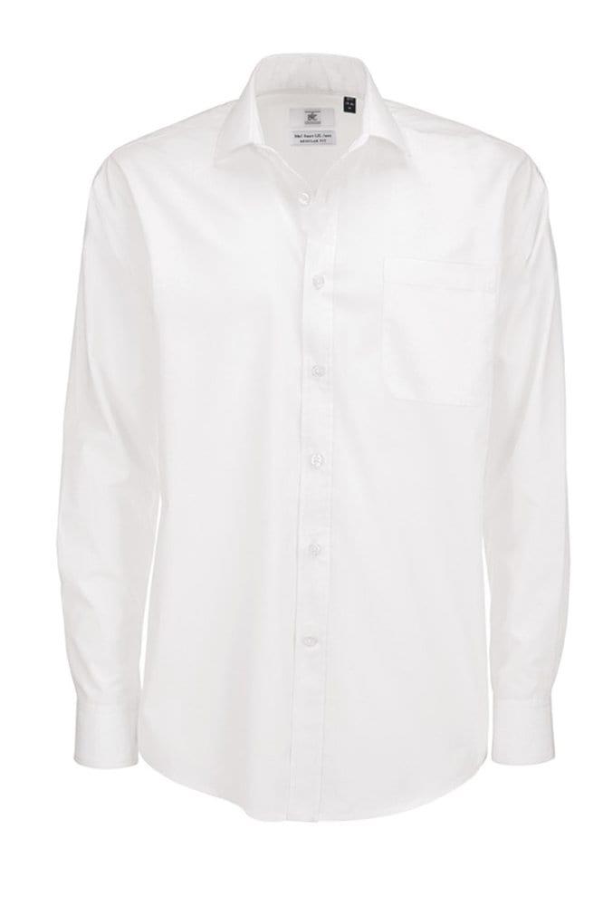 B&C SMP61 - Men's Smart Long Sleeve Poplin Shirt