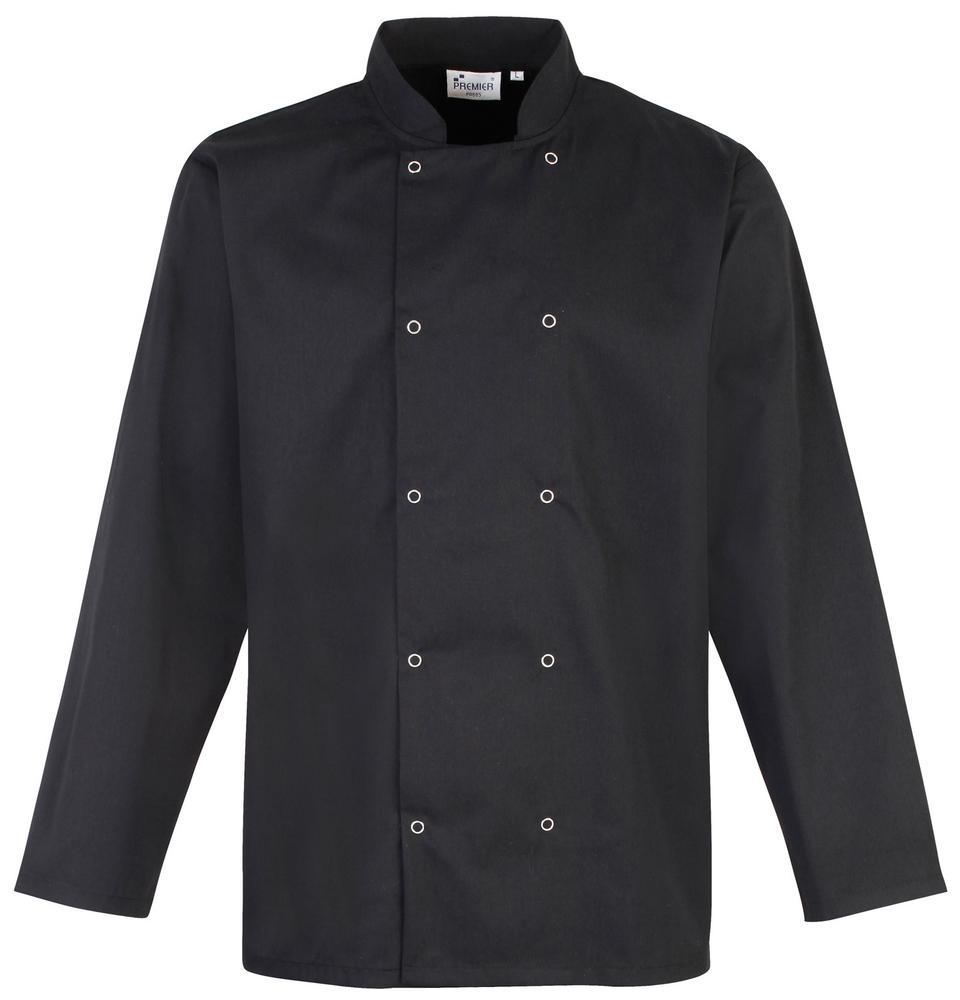 Premier PR665 - Chef's jasje met drukknopen en lange mouwen