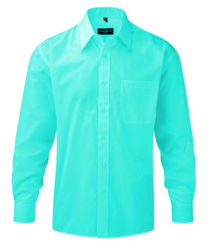 Russell J934M - Camisa popelina de manga larga hombre