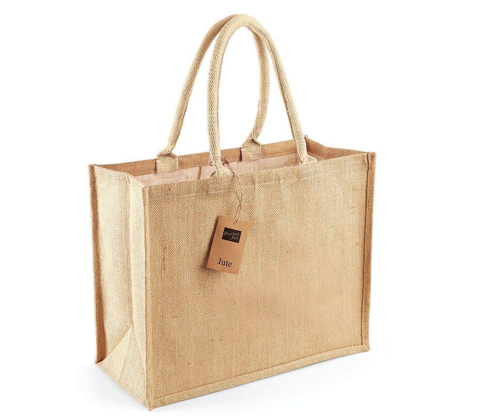 Westford mill WM407 - Burlap Shopping Bag