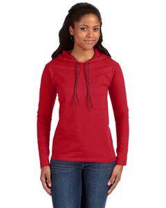 Anvil 887L - Ladies Lightweight Long Sleeve Hooded T-Shirt