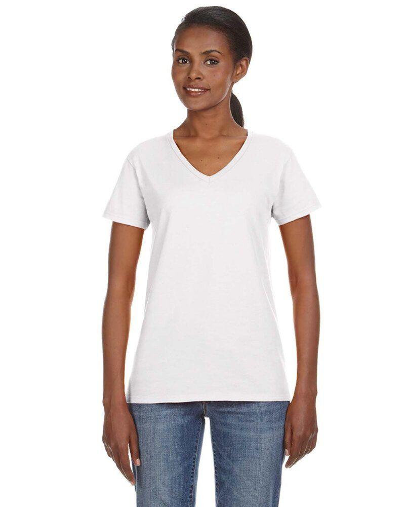 Anvil 88VL - Missy Fit Ringspun V-Neck T-Shirt