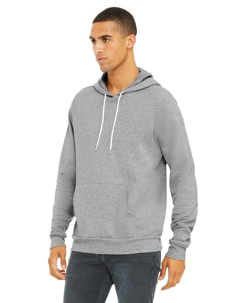 Bella+Canvas 3719 - Unisex Poly/Cotton Hooded Pullover Sweatshirt