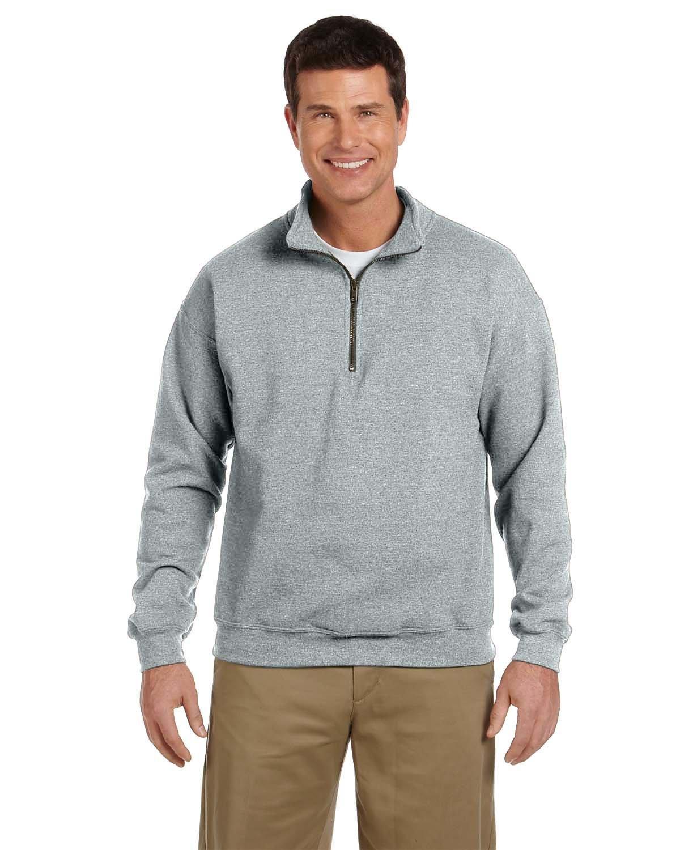 Vintage Classic Quarter-Zip Cadet Collar Sweatshirt Gildan Heavy Blend/™ 8 oz G188 - BLACKBERRY,2XL