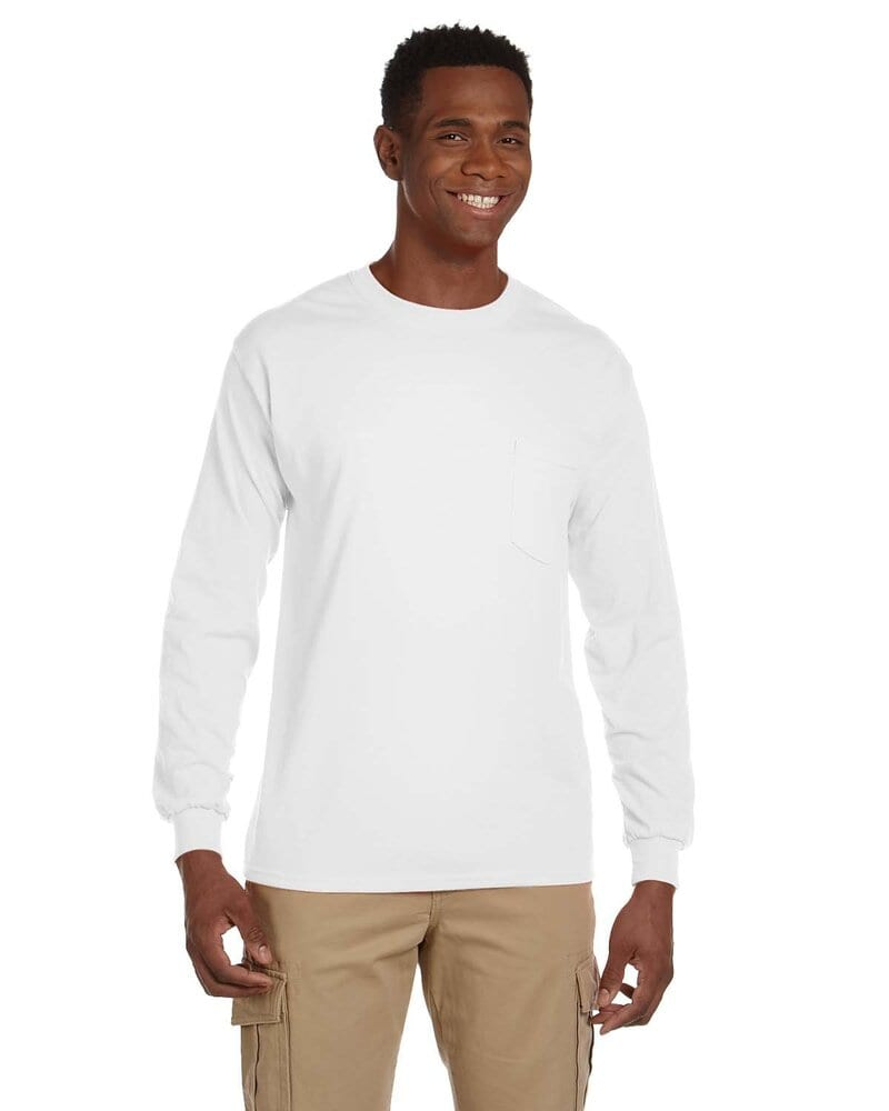 Gildan 2410 - Ultra Cotton™ Long Sleeve T-Shirt with a Pocket