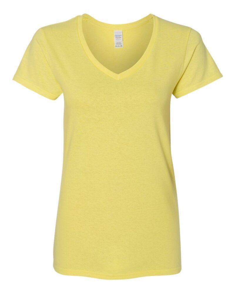 Gildan 5V00L - Ladies' Heavy Cotton V-Neck T-Shirt with Tearaway Label