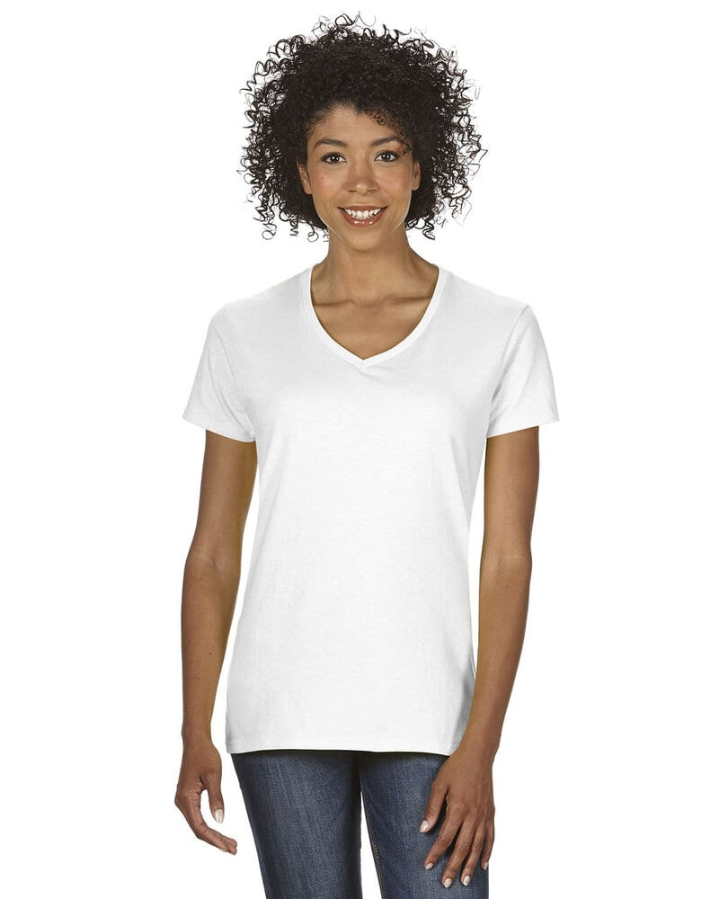 Gildan 5V00L - Ladies' Heavy Cotton V-Neck T-Shirt with Tearaway Label