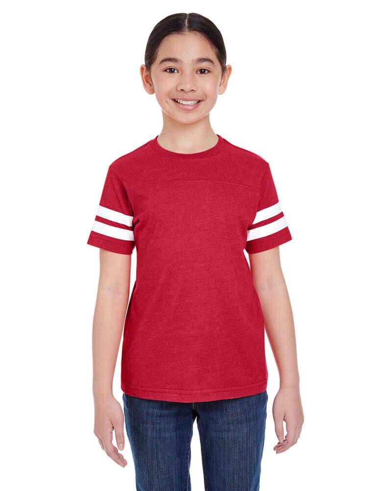 LAT 6137 - Youth Vintage Football T-Shirt