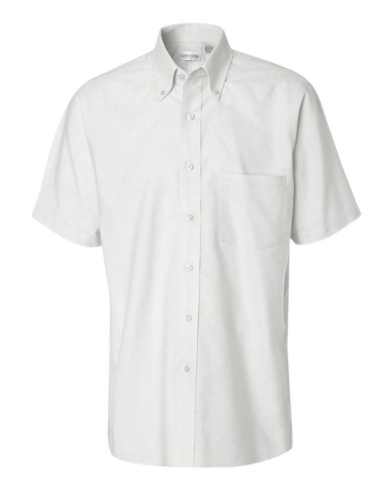 Van Heusen 13V0042 - Short Sleeve Oxford Shirt