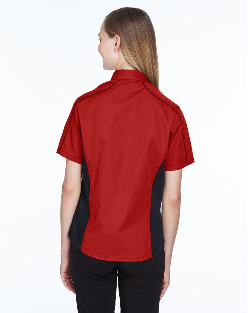 Ash City North End 77042 - Fuse Ladies'Color-Block Twill Shirts