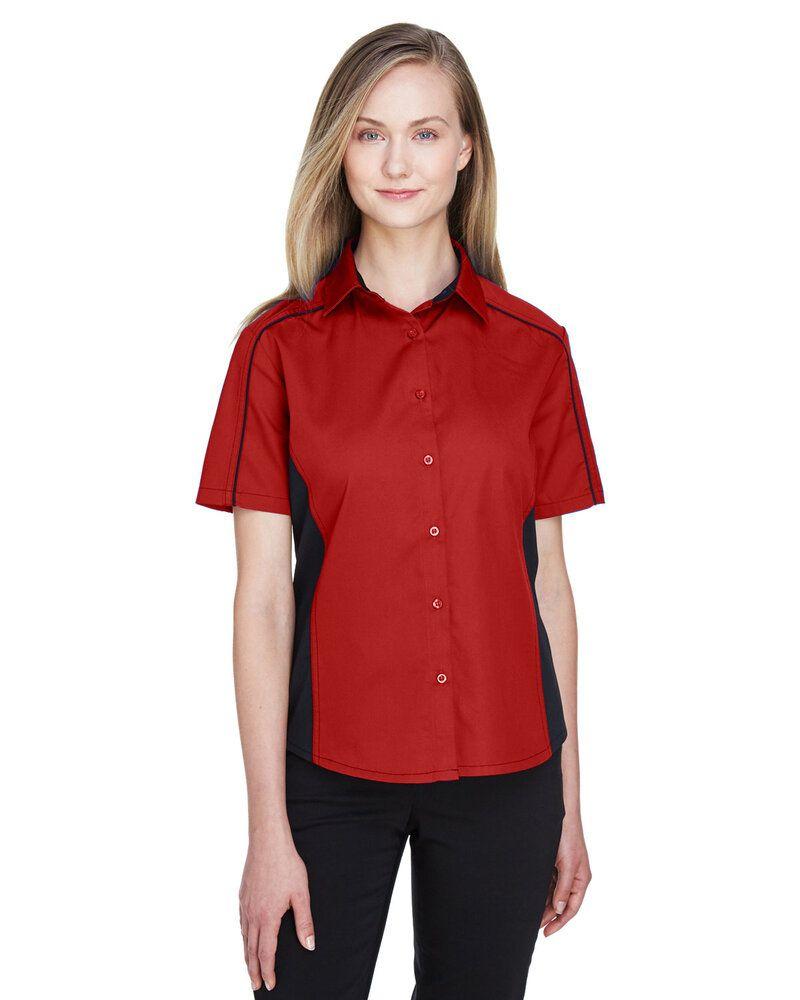Ash City North End 77042 - Fuse Ladies' Color-Block Twill Shirts