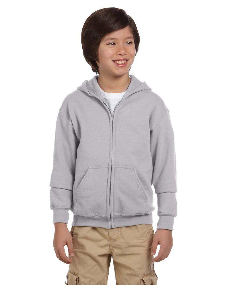 Gildan G186B - Wholesale Youth 8 oz., 50/50 Full-Zip Hoodie