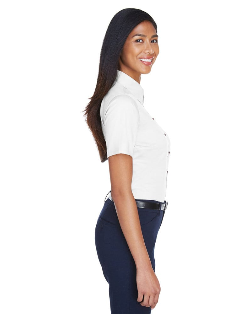 Harriton M500SW - Ladies Easy Blend™ Short-Sleeve Twill Shirt with Stain-Release