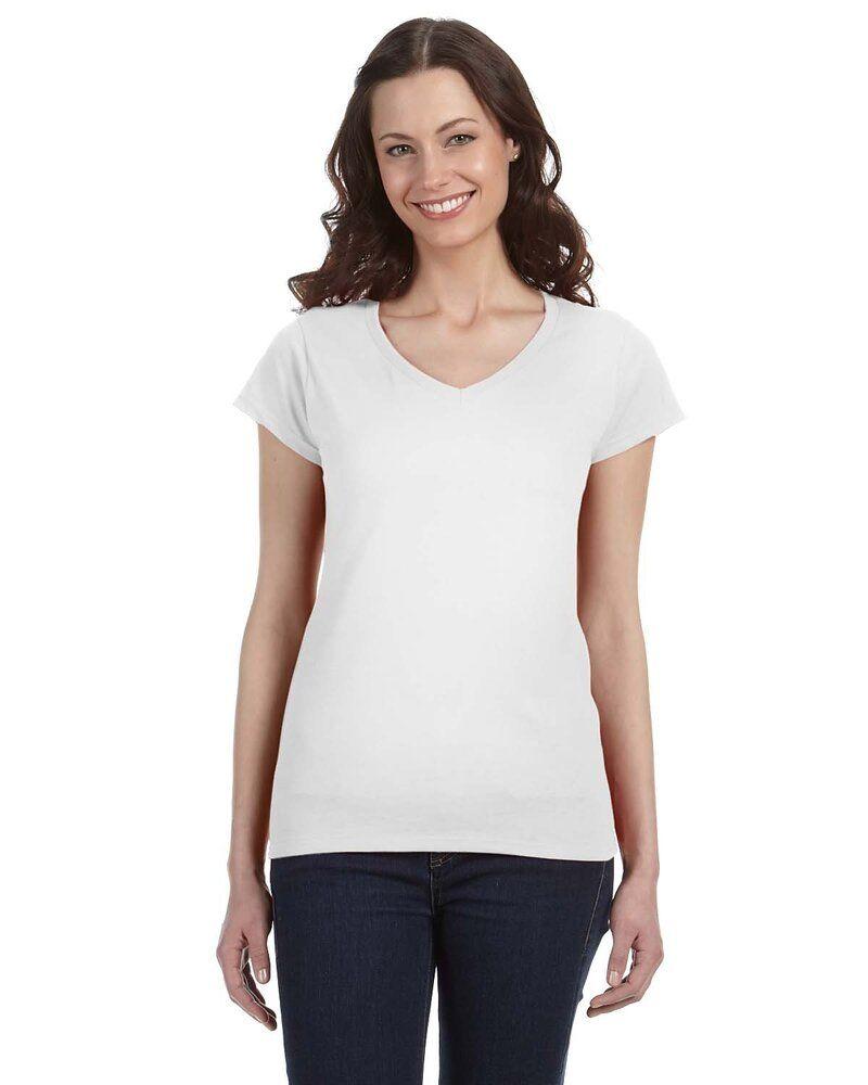 Gildan G64VL - Softstyle® Ladies 4.5 oz. Junior Fit V-Neck T-Shirt