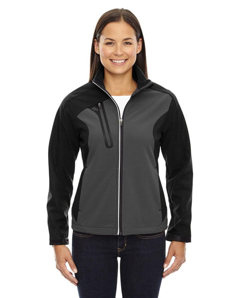 Ash City North End 78176 - Terrain Ladies'Color-Block Soft Shell With Embossed Print