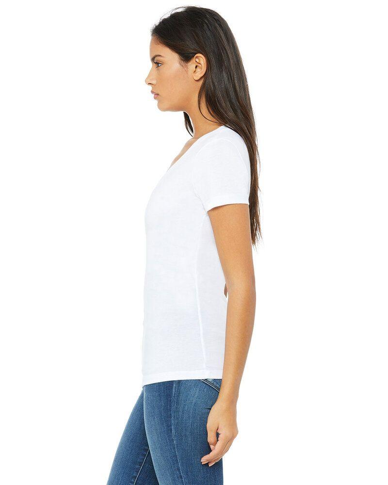 Bella+Canvas B6035 - Ladies Jersey Short-Sleeve Deep V-Neck T-Shirt