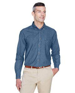 Harriton M550 - Mens 6.5 oz. Long-Sleeve Denim Shirt