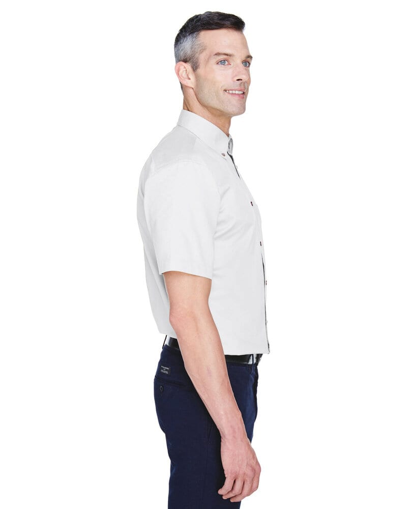 Harriton M500S - Men's Easy Blend™ Short-Sleeve Twill Shirt with Stain-Release