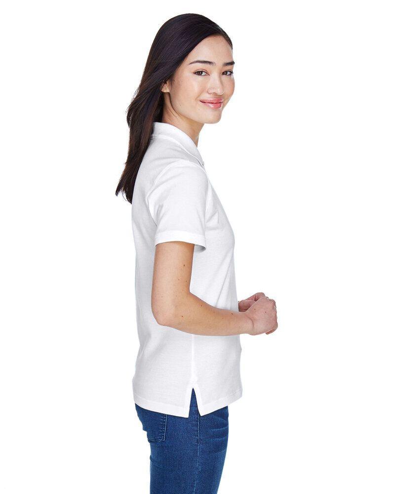 Harriton M200W - Ladies 6 oz. Ringspun Cotton Piqué Short-Sleeve Polo