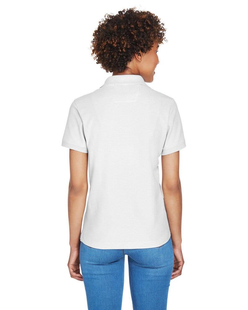 Devon & Jones D100W - Ladies Pima Piqué Short-Sleeve Y-Collar Polo