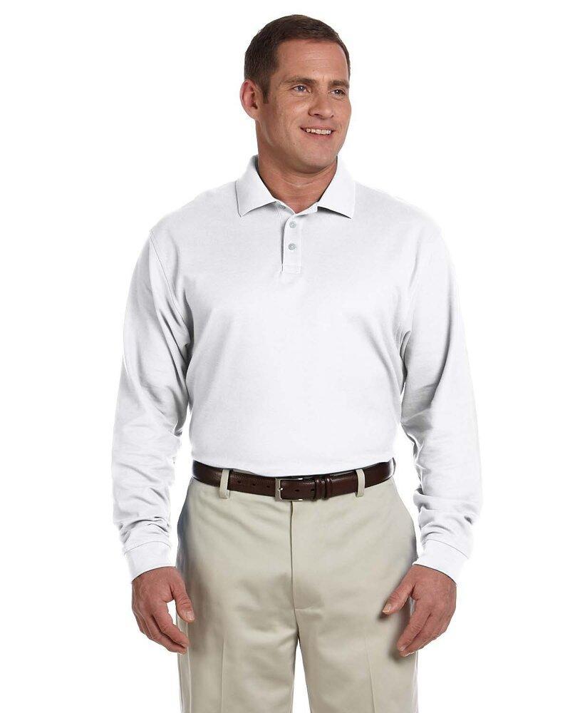 Devon & Jones D110 - Men's Pima Piqué Long-Sleeve Polo