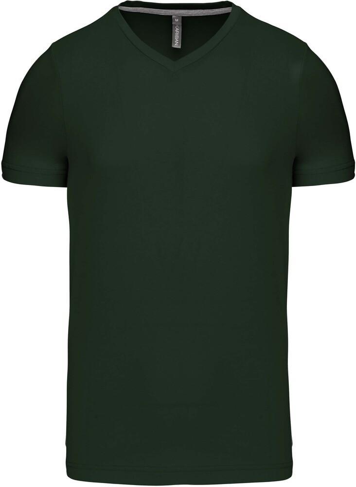 Kariban Mens Slim Fit Long Sleeve V Neck Plain Colours Cotton T-Shirt