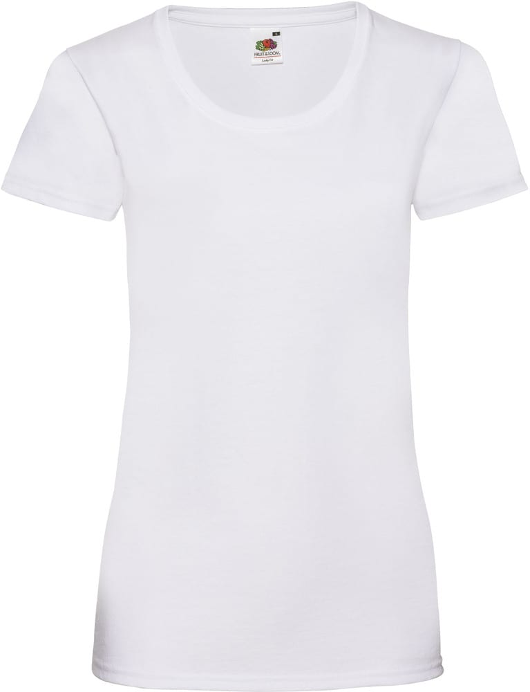 Fruit of the Loom SC61372 -T-Shirt Woman 100% Cotton