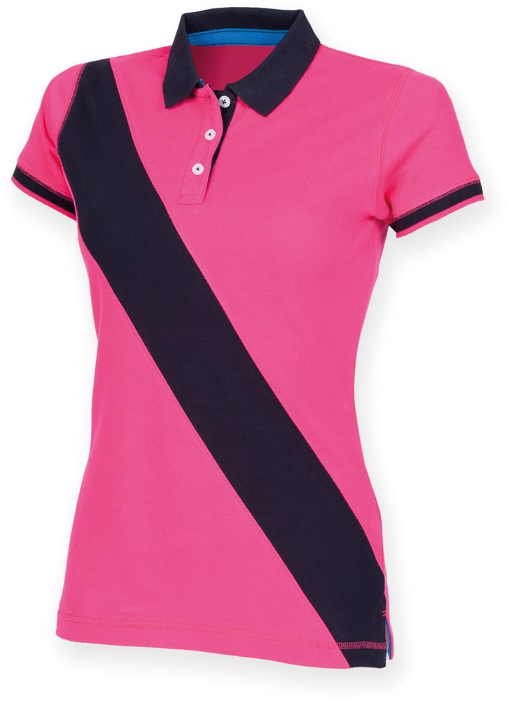Front Row FR213 - Ladies Diagonal Stripe Cotton Piqué Polo Shirt