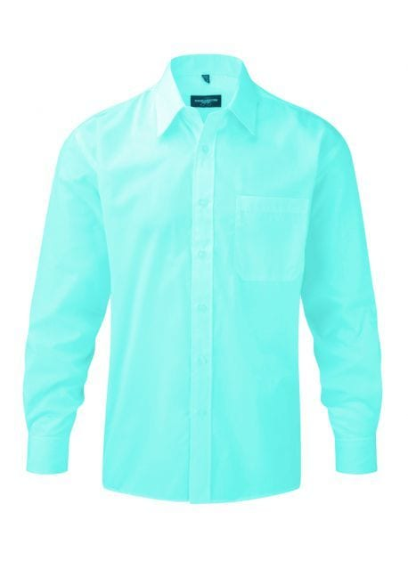 Russell Collection RU934M - Men's Long Sleeve Polycotton Easy Care Poplin Shirt