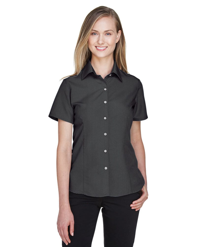 Harriton M560W - Ladies Barbados Textured Camp Shirt