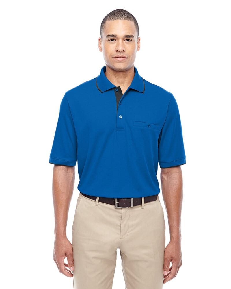 Ash CityCore 365 88222 - Men's Motive Performance Pique Polo with Tipped Collar