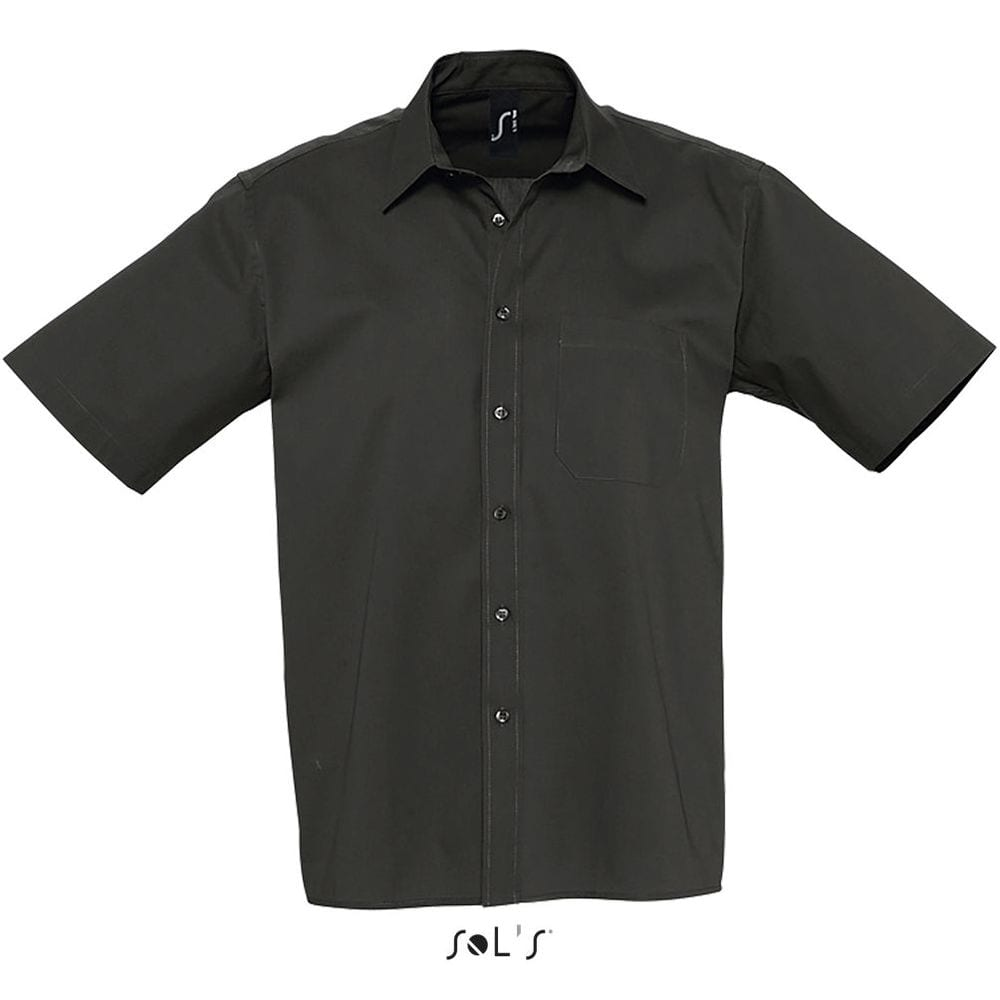 Sol's 17070 - Chemise Homme Popeline Manches Courtes BERKELEY