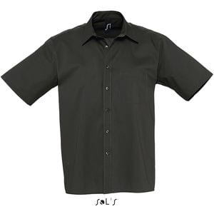Sols 17070 - Chemise Homme Popeline Manches Courtes BERKELEY