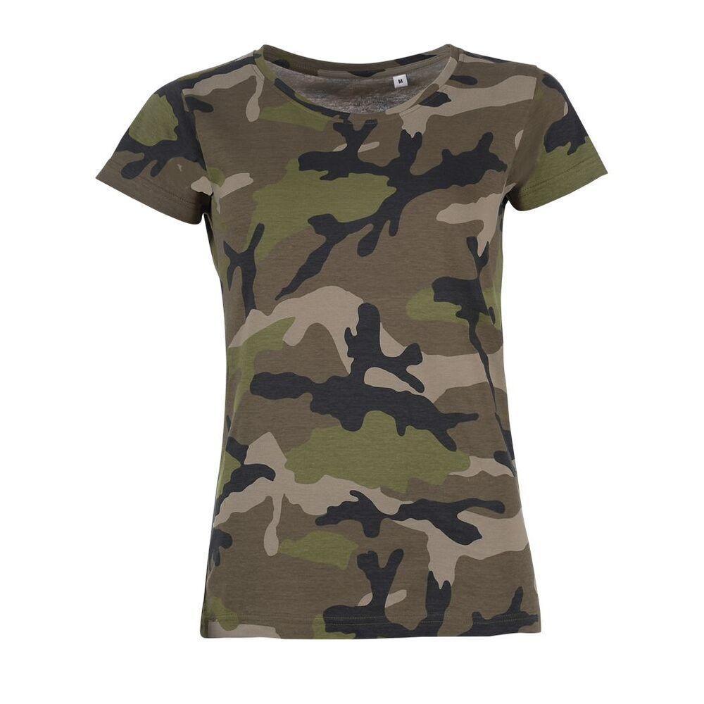 Sol's 01187 - Women's Round Collar T-Shirt Camo