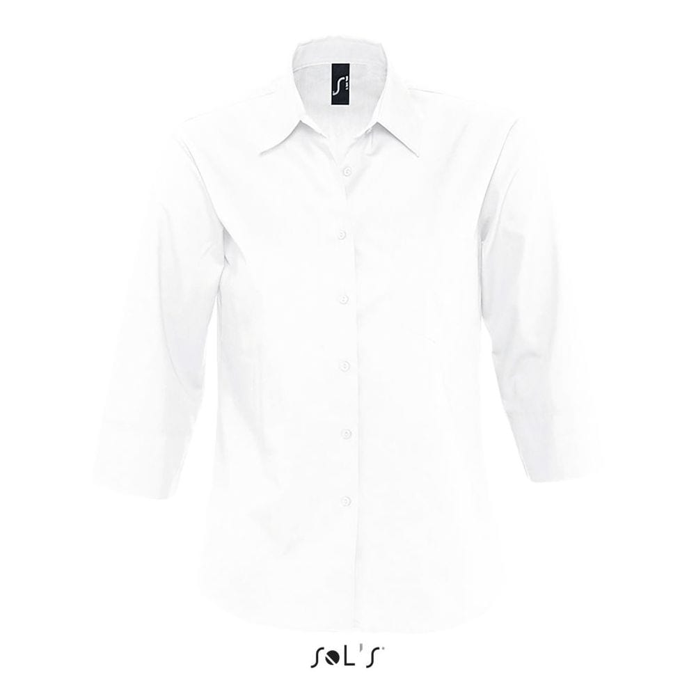 SOLS Camisa de popelín de manga larga en contraste modelo