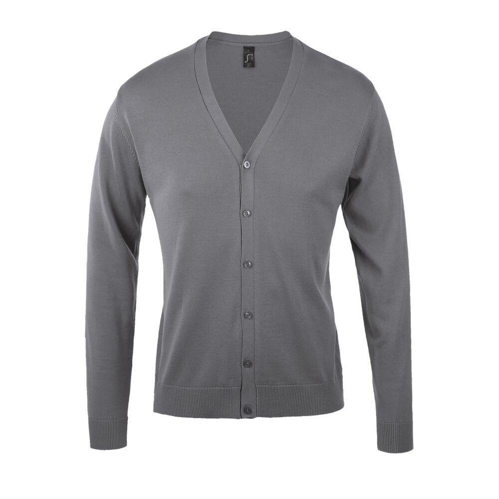 SOL'S 90011 - Men's cotton V-neck cardigan