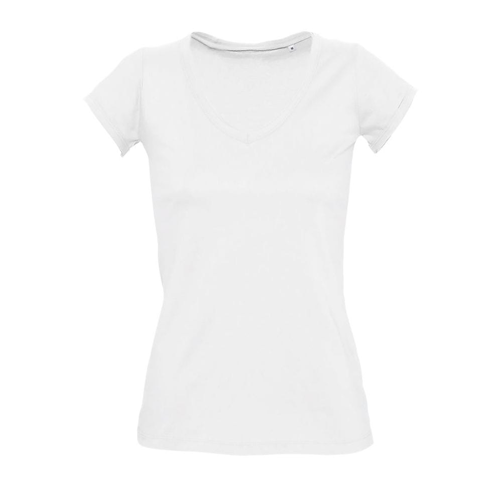 Sol's 11387 - Women's V-Neck Rolled And Raw-Cut Finished T-Shirt Mild