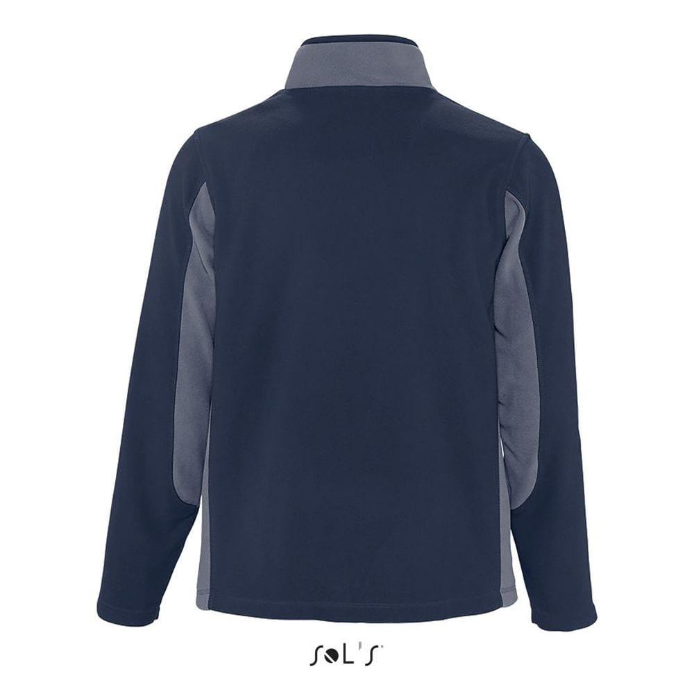 Sol's 55500 - Men's Bicolor Zipped Fleece Jacket Nordic