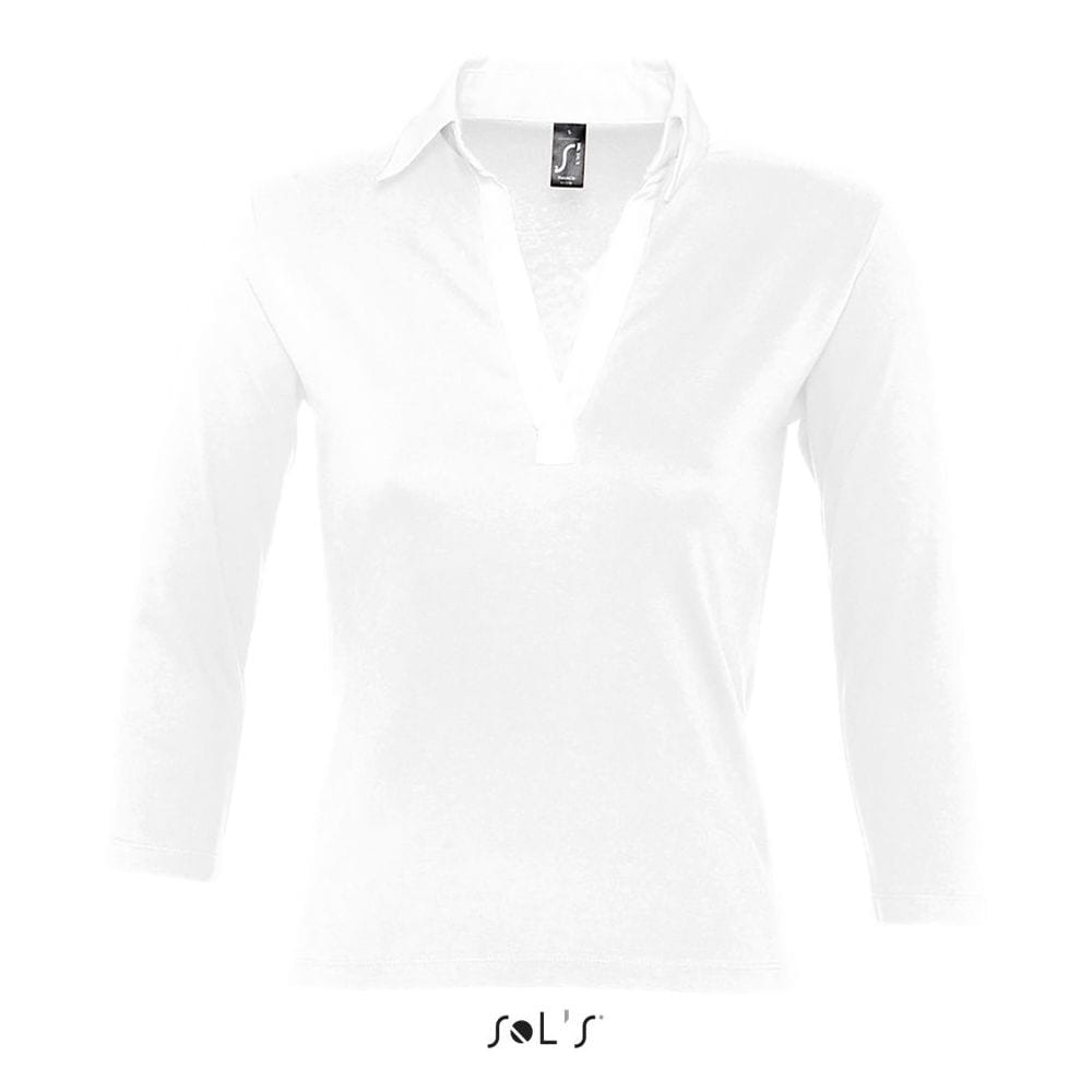 Sol's 11329 - WOMEN'S 3/4 SLEEVE TWO-COLOURED RUGBY POLO SHIRT PANACH
