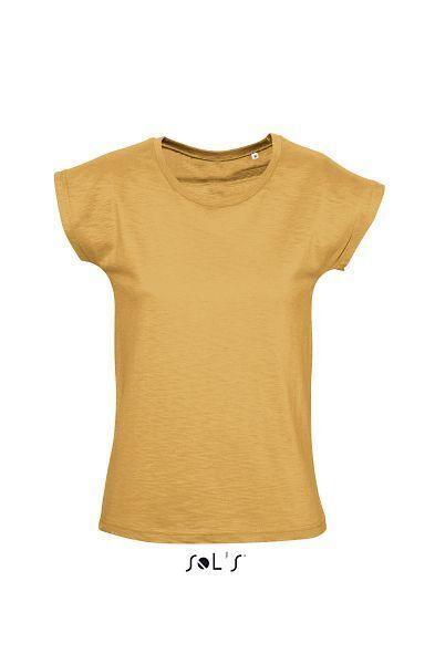 Sol's 11393 - WOMEN'S ROUND COLLAR SLUB T-SHIRT SCOOP