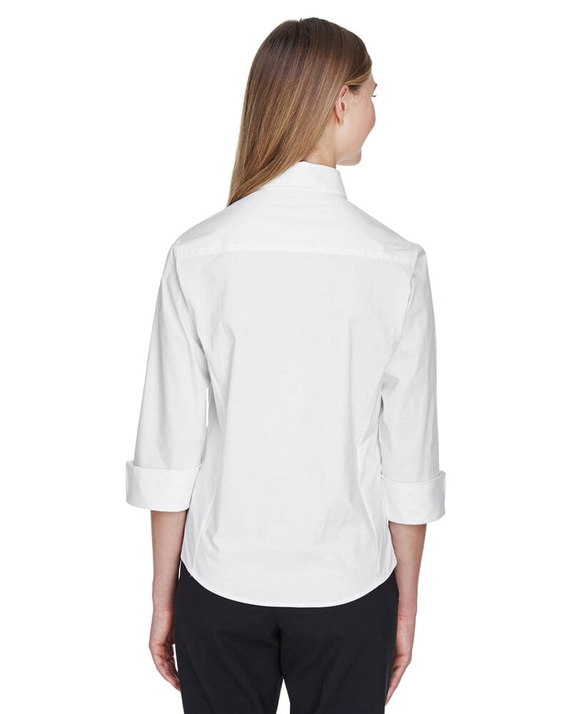 Devon & Jones DP625W - Ladies Three-Quarter Sleeve Stretch Poplin Blouse
