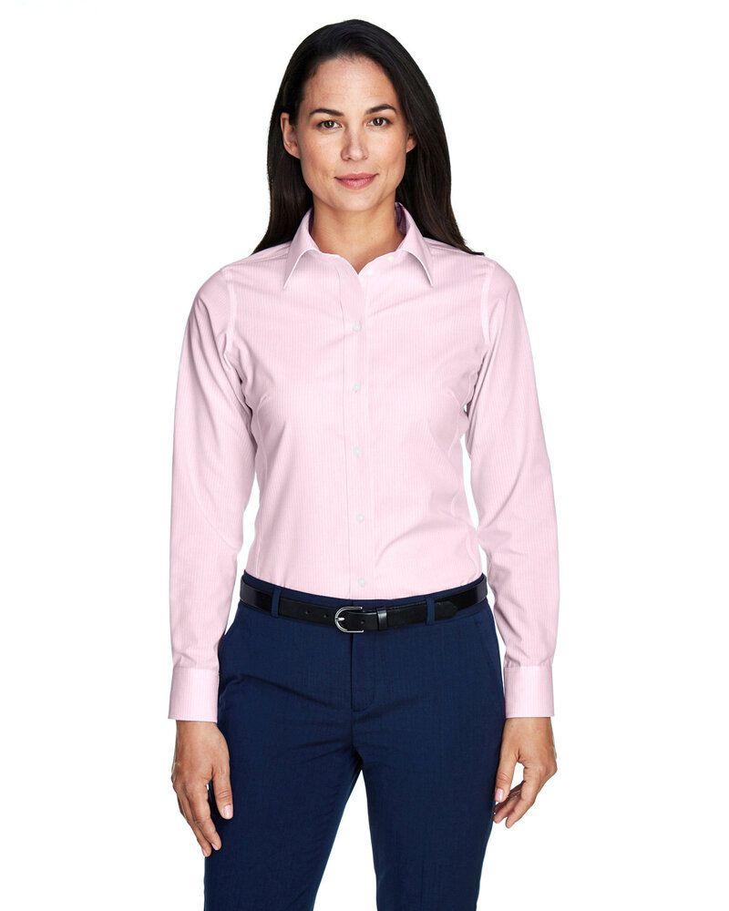 Devon & Jones D645W - Ladies Crown Collection™ Banker Stripe
