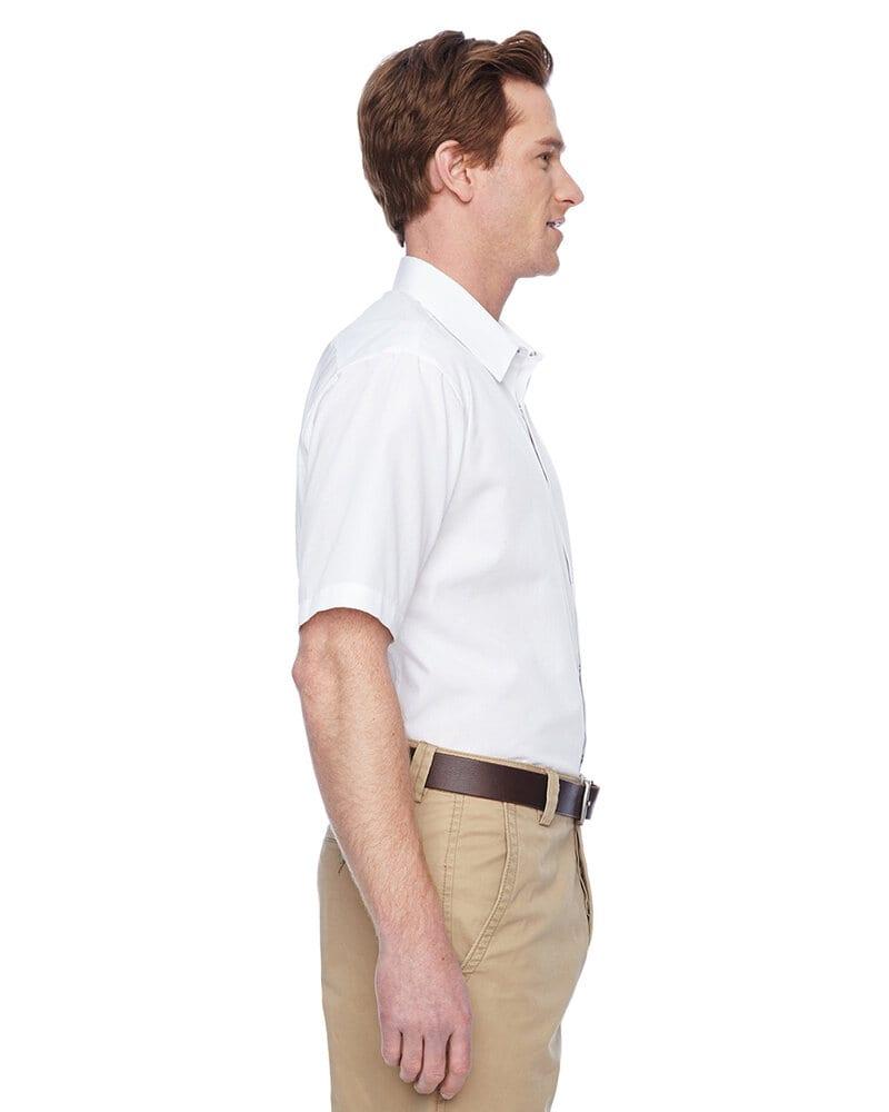 Harriton M545 - Men's Advantage Snap Closure Short-Sleeve Shirt